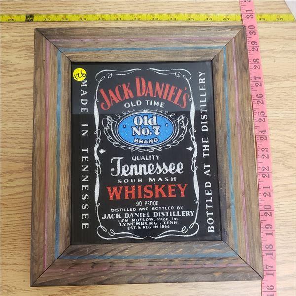 Jack Daniels Wood framed mirror sign