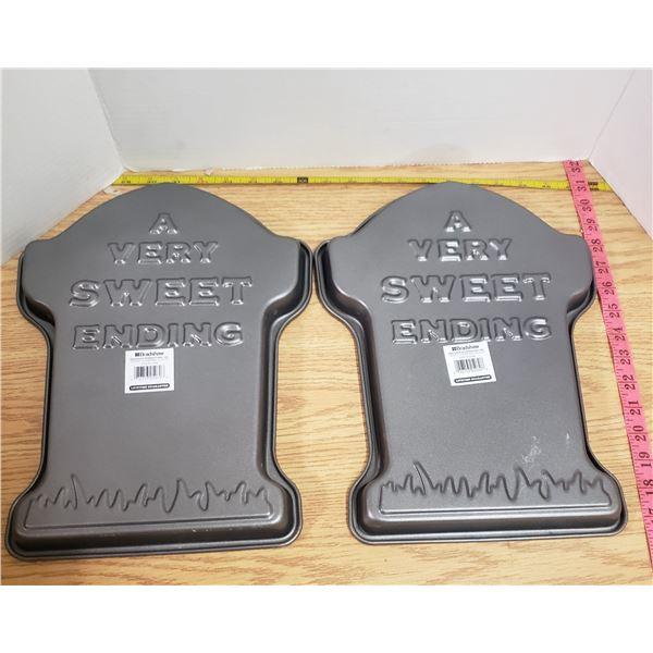 2 X New metal baking pans