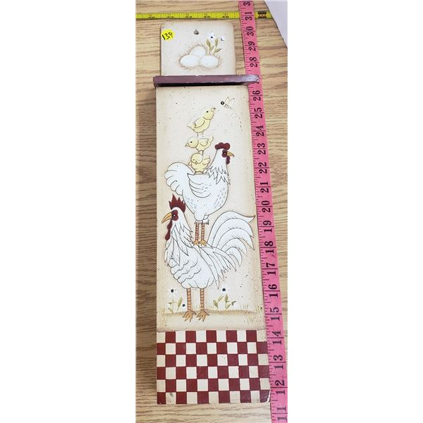 decorative wooden rooster