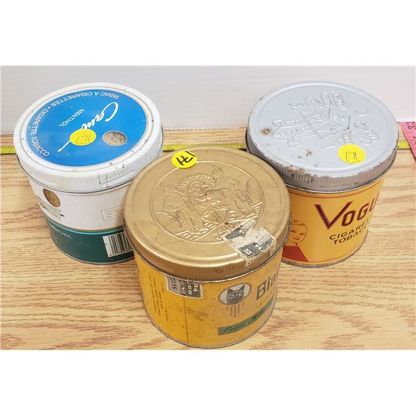 3 x vintage tobacco tins