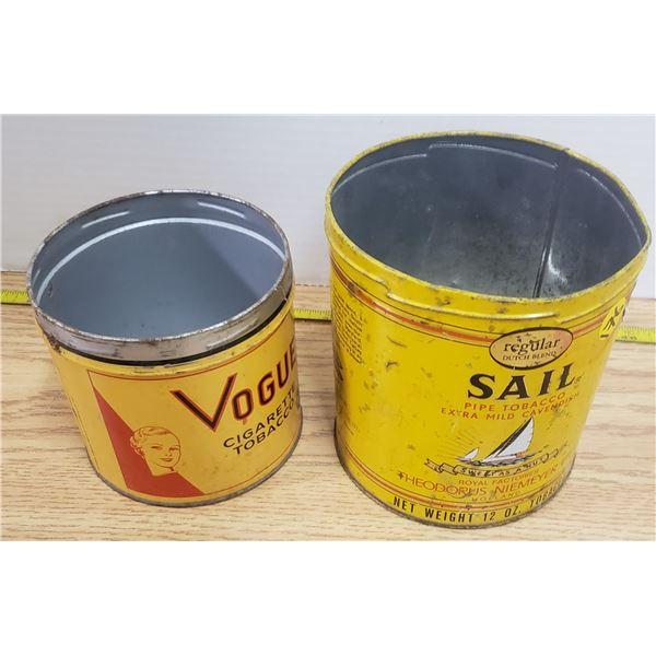 2 X vintage tobacco tins