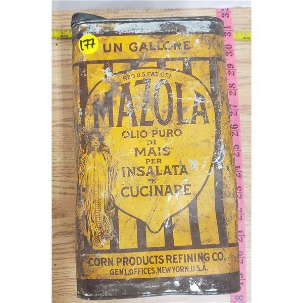 Vintage Mazola Corn oil Gallon tin