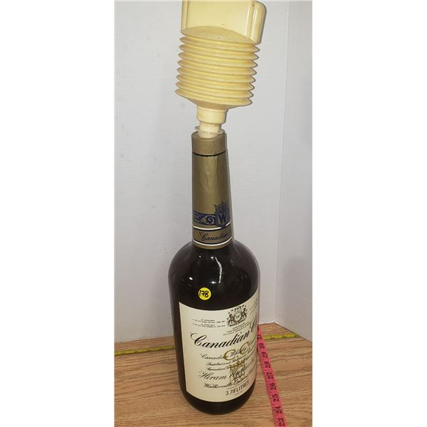 Vintage Canadian Club Whiskey 40 pounder bottle