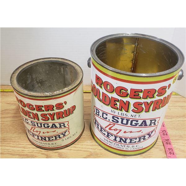 2 X vintage Robin Sugar Cans