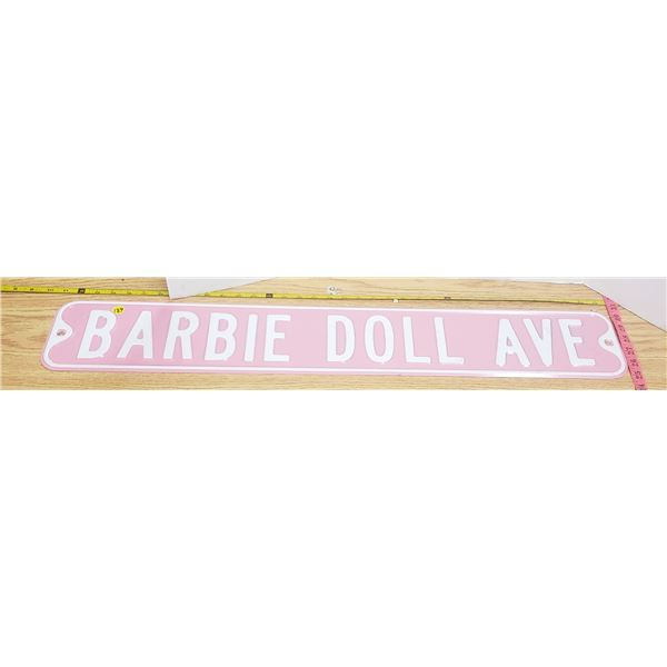"Metal Barbie Doll sign 36"" X 6"""