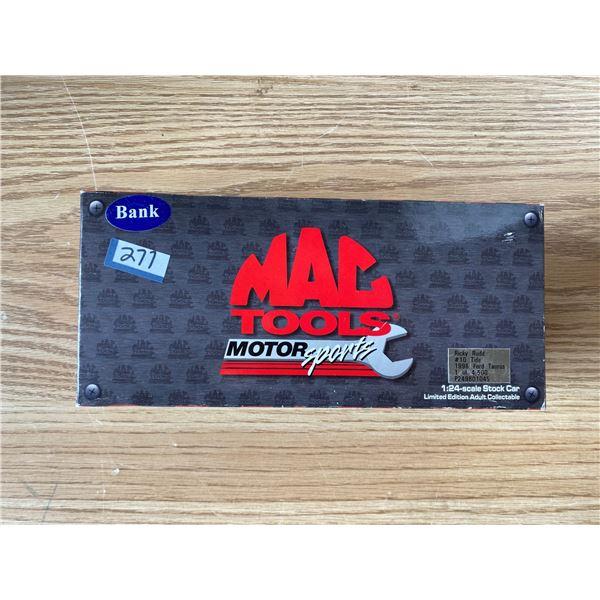 NIB Mac Tools Coin Bank Car