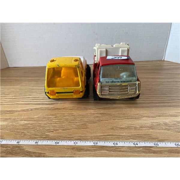 2 Tin Toy Trucks