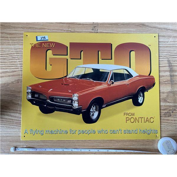 """GTO Tin Sign 16""""x12"""""""