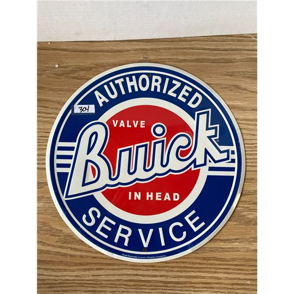 Buick Tin Sign 12 Inch Round