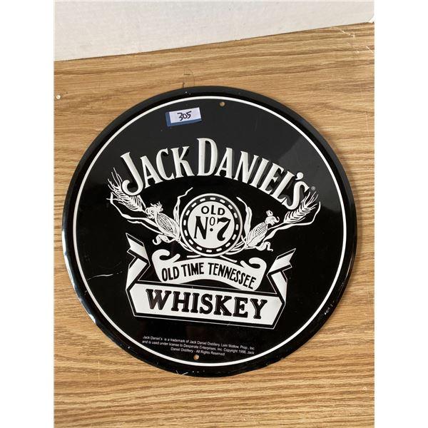 Jack Daniels Sign 12 Inch Round