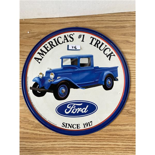 Ford Truck Sign 12 Inch Round