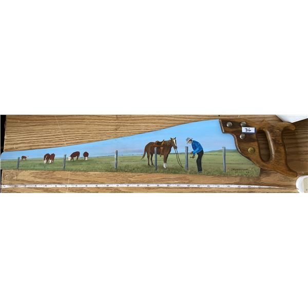 Hand Painted Hand Saw By J Robertson 96