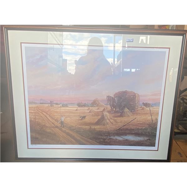 """Haying Time """"Jerry Dowell"""" Limited Production Print 34x28"""" 180/300"""