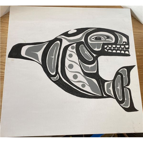 """West Cost Native Art 24""""x24"""""""