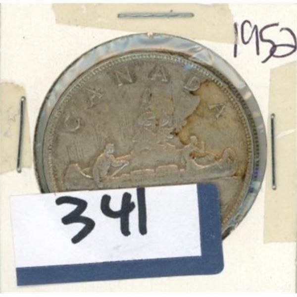 1952 Canadian One Dollar