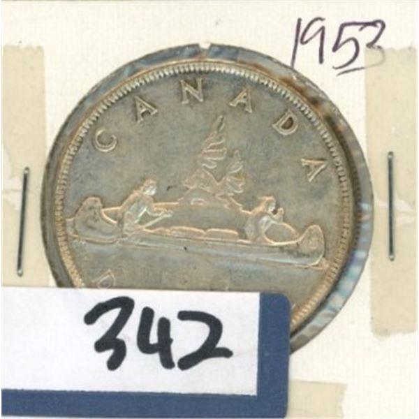 1953 Canadian One Dollar