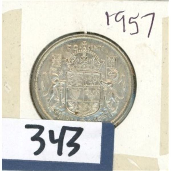 1957 Canadian 50 Cent