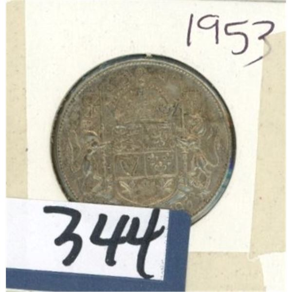 1953 Canadian 50 Cent