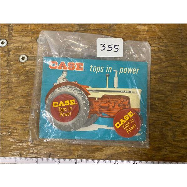 Rare 1960-70's Case 'Tops in power' bottle tops (NOS)