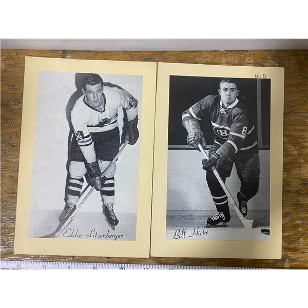 2 1945-65 Beehive photos; Bill Hicke, Eddie Litzenberger