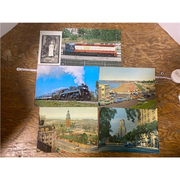 6 postcards,5 super postcards & one 1912 postcard