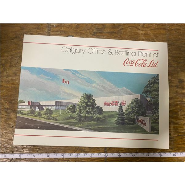1979 Coca-Cola advertising promo booklet, opening Calgary bottle plant