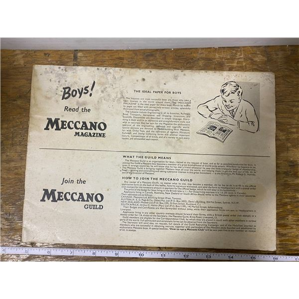 Vintage 1950's Meccano catalogue (no cover)