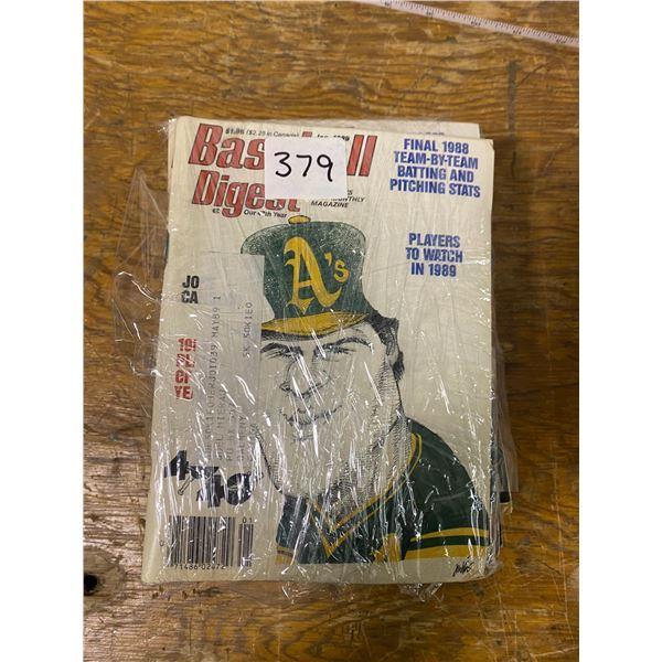 15 baseball digit magazines 1980's