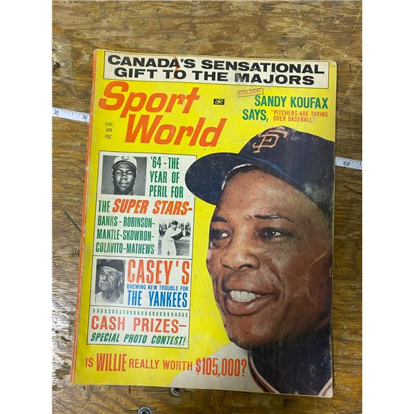 Willie Mays on cover sports world 1964