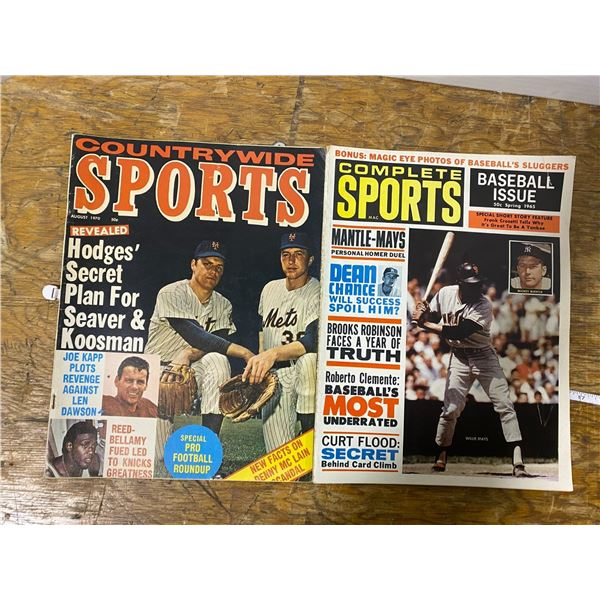 2 Sports related magazine 1960-70's