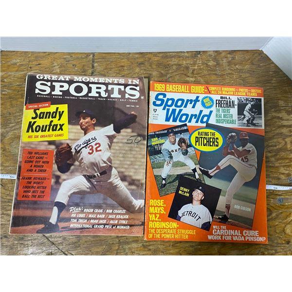 2 1960's sport magazines