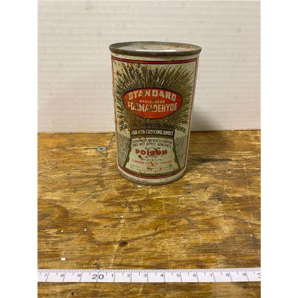 Vintage standard poison can with skull & crossbones