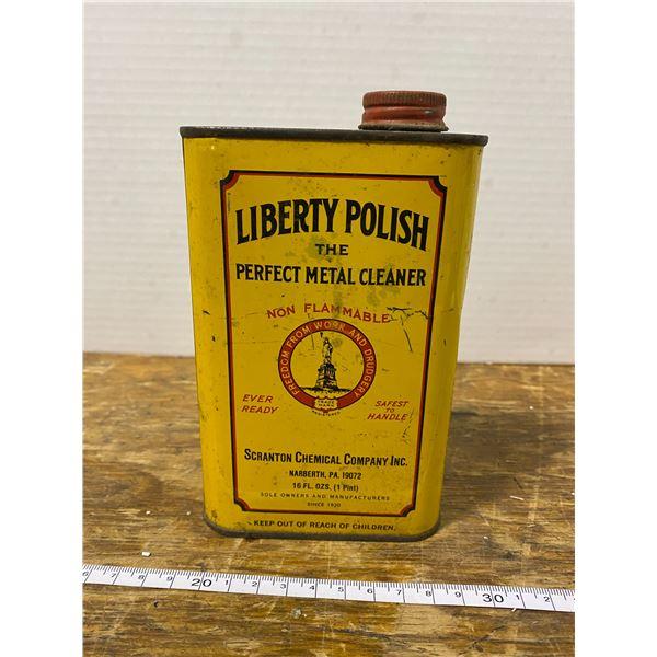 Vintage Liberty Polish metal cleaner can