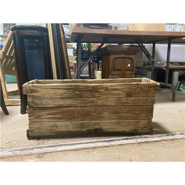 Wooden box 8 X 31 no top