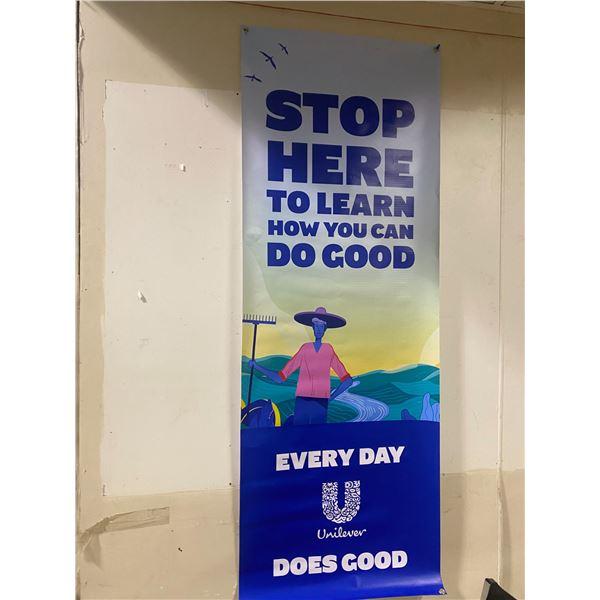 1 Kellogg's poster, 1 banner