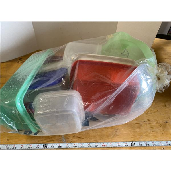 Lot Assorted Plastic and Tupperware Containers