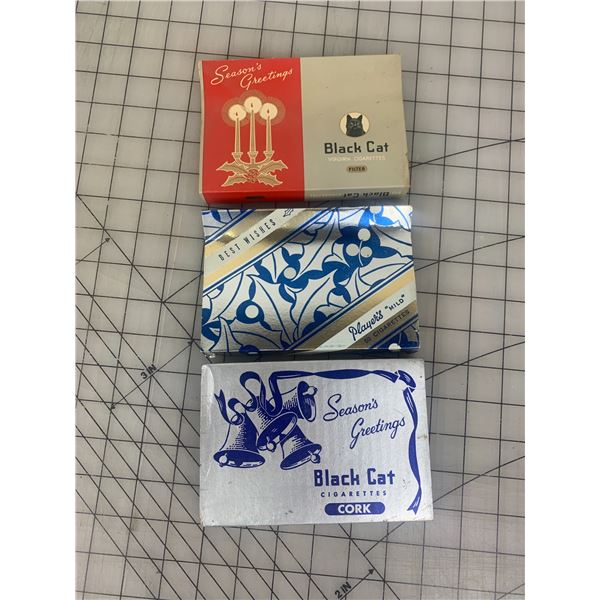 LOT OF VINTAGE CHRISTMAS FLAT FIFTY CIGARETTE SLEEVES