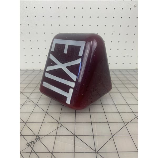 VINTAGE TRIANGLE EXIT LIGHT COVER