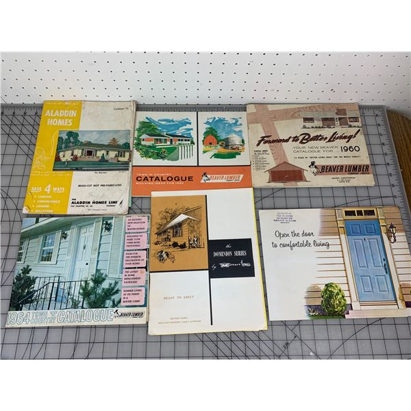 VINTAGE BEAVER LUMBER CATALOGS AND HOME BUILDING RELATED
