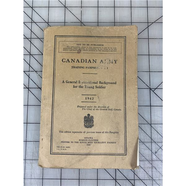 1942 CANADIAN ARMY TRAINING MANUAL 192 PAGES