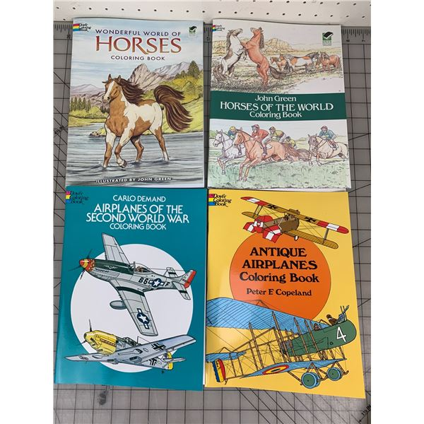 NEW COLORING BOOKS PLANES AND HORSES