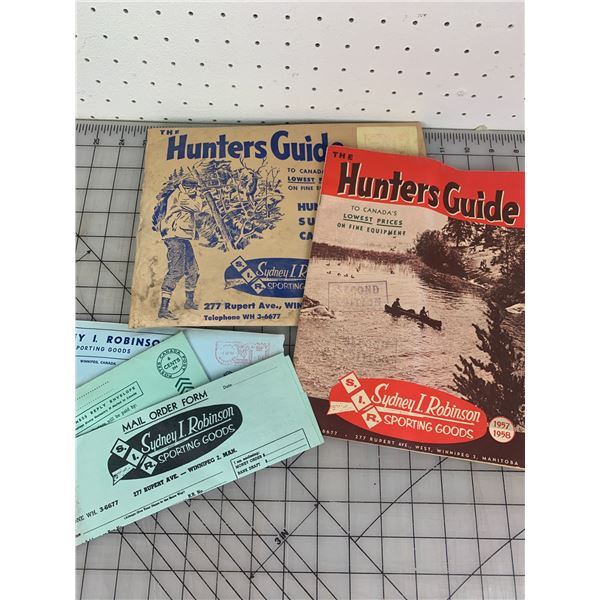1957 58 S.I.R HUNTERS GUIDE SPORTING GOODS CATALOG SYDNEY ROBINSON