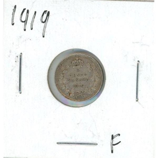 1919 Canadian Silver Nickel