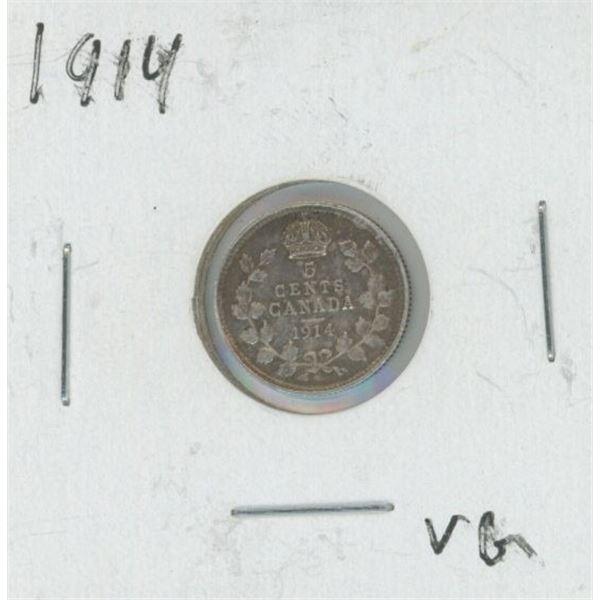 1914 Canadian Silver Nickel