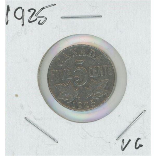 1925 Canadian Nickel