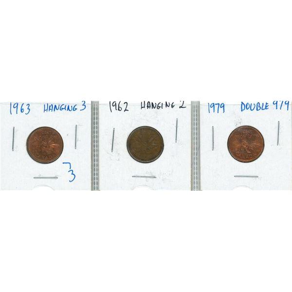 (3) 1962-1979 Canadian Pennies