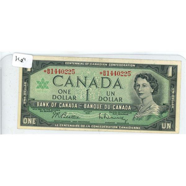 1967 Canadian Dollar Bill