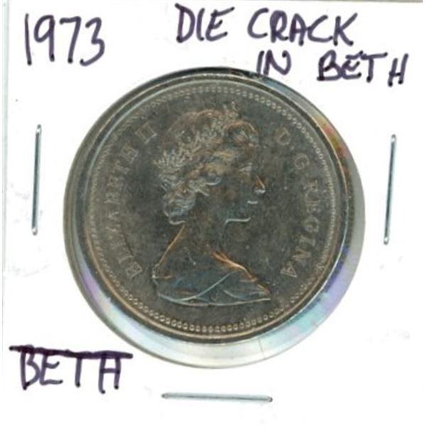1973 Canadian One Dollar Coin