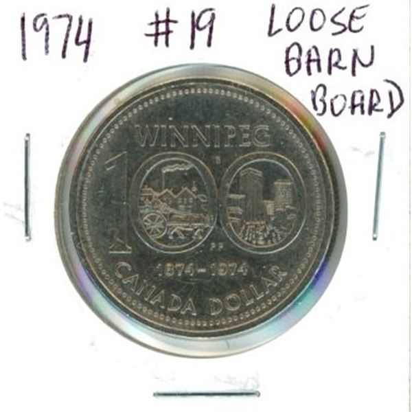 1974 Canadian One Dollar Coin