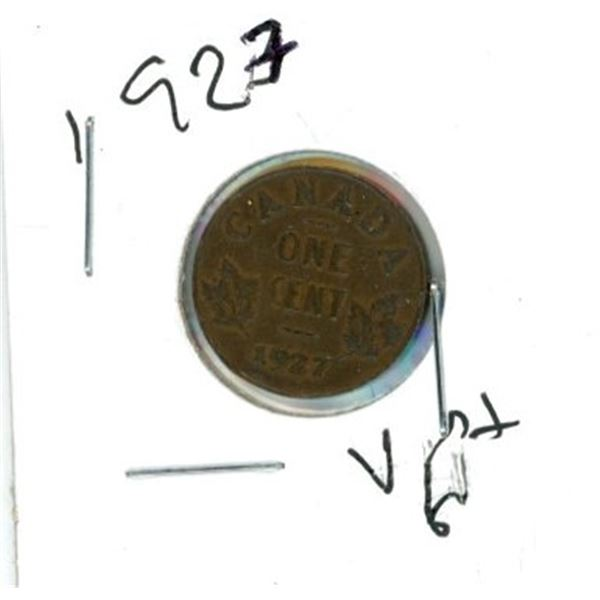 1927 Canadian One Cent Coin